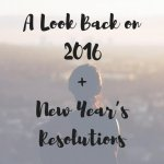 A Look Back on 2016 + New Year's Resolutions